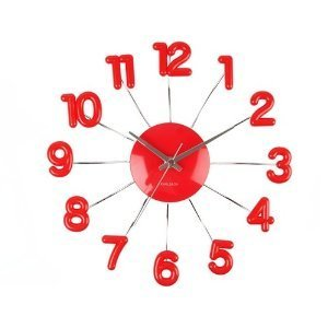 Karlsson Wall Clock   Spider Numbers Red