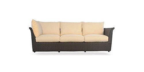 Sectional Sofa in Espresso (Safari-White Stripe Fabric)
