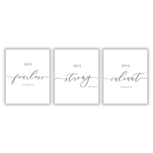 HLNIUC Black and White Inspirational Quote Modern Minimalist Typography Art Print Set of 3 (8