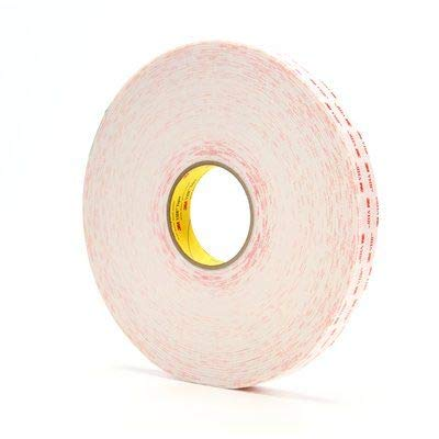 3M VHB Tape 4930 White 1 Inch x 36 Yard 25.0 Mil (1-Roll)
