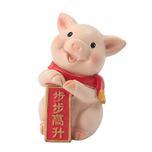 - Sizet Year of The Pig Decorative Gifts for People Who are 12 or 24 New Year Cartoon Resin Desktop Decoration Piglet Gift