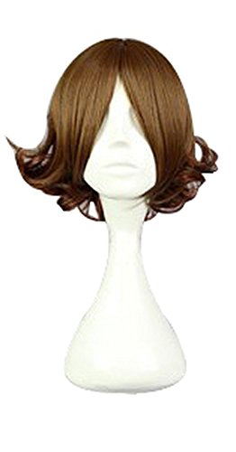 Tsubaki Cosplay Costume (Mtxc Your Lie in April Cosplay Tsubaki Sawabe Reverse Bend Curly Wig Brown)
