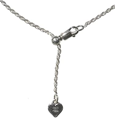 Sterling Silver Easy Adjust Diamond-Cut Rope Chain by ugems