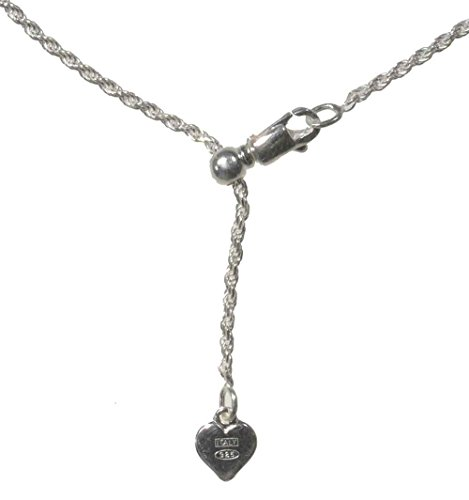 Sterling Silver Easy Adjust Diamond-Cut Rope Chain 1.4mm, 24 Inch