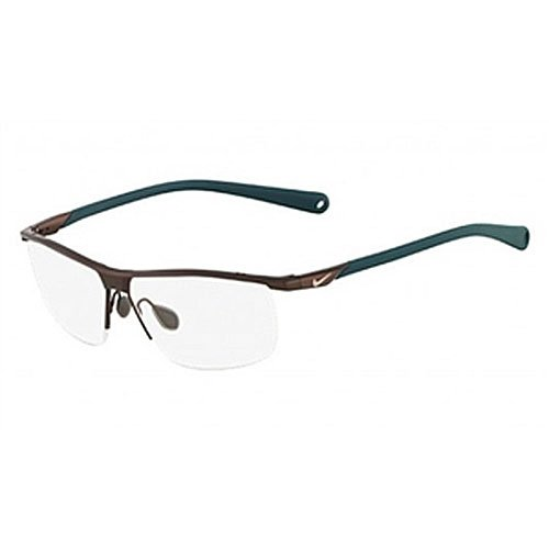 Nike 6055/2 Eyeglasses Color 245 Satin Walnut Teal