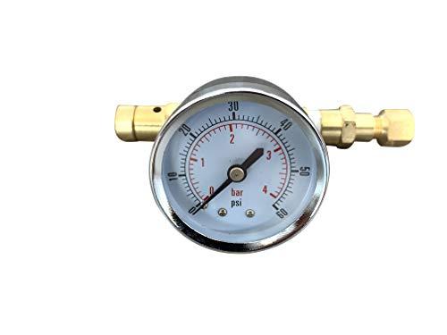 Ball Lock Adjustable Pressure Valve with Gauge,0~4 bar, 0~60 psi, Home Brew Kegging equipment for Brewing Beer corny Keg (Beer Kegging Equipment)
