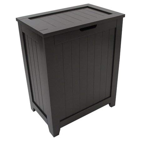 - Storage Laundry Basket - Contemporary Country Collection Hamper - Espresso