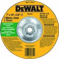 DEWALT DW4759 7-Inch by 1/4-Inch by 5/8-Inch-11 Concrete/Masonry Grinding Wheel