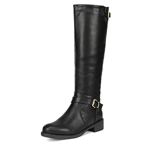 (DREAM PAIRS Women's Intruder Black Knee High Boots Size 9.5 B(M) US)