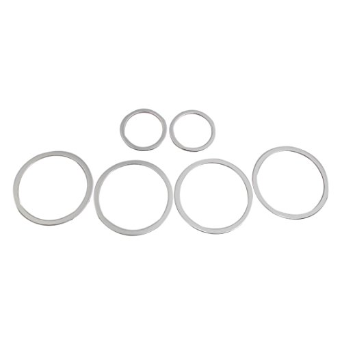 uxcell 6pcs Silver Tone Car Door Speaker Audio Decorative Ring Circle for BMW GT5 by uxcell