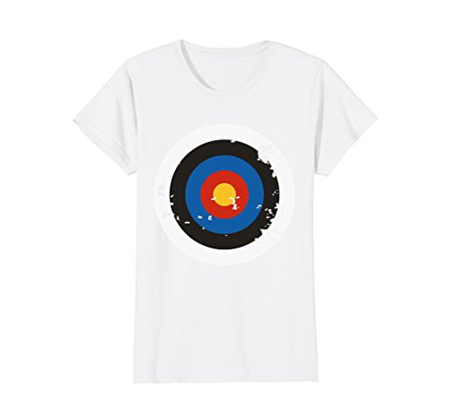 Womens Distressed Archery Target Bullseye Halloween Costume T-Shirt Large White for $<!--$16.95-->