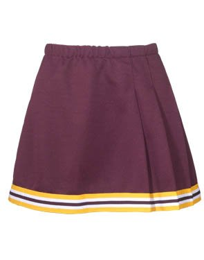 Adult 3-Pleat Cheer Skirt With Trim (XX-Small) ()