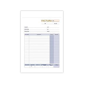 talonario de factura formato 1 8 10 unidades amazon es electrónica