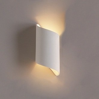 5 Inch Contemporary Cylinder Ribbon Wall Sconce-Indoor Lighting Fixture
