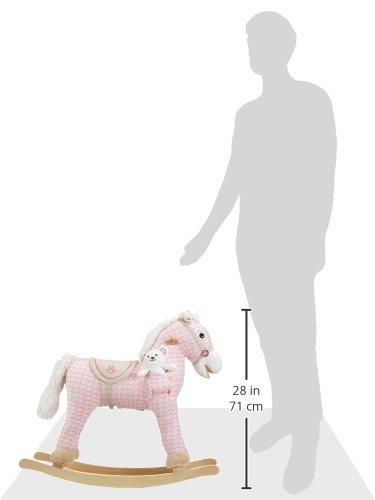 Milly Mally Pony Schaukelpferd Schaukelspielzeug mit Soundeffekten Rosa