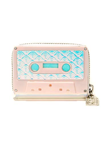 (FYDELITY Cassette Tape Wallet Case Retro Leather Purse Card Coin Holder Pink Sh)