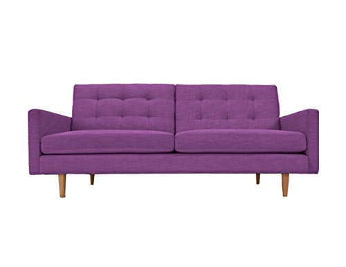 PoshBin Lawrence Mid Century Sofa, Purple by PoshBin