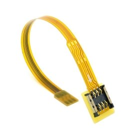 CableCC Micro SIM Card to Nano SIM Kit Male to Female Extension Soft Flat FPC Cable Extender 10cm by cablecc (Image #6)