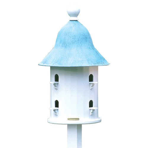 Lazy Hill Farm Designs 43413 Bell House White Solid Cellular Vinyl with Blue Verde Copper Roof, 17-Inch by 23-1/2-Inch (Lazy Bell Hill)