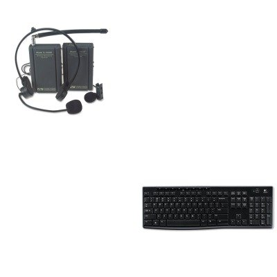 KITAPLS1601LOG920003051 - Value Kit - Amplivox Wireless Lapel and Headset Microphone Kit (APLS1601) and LOGITECH, INC. K270 Wireless Keyboard (LOG920003051) by Amplivox