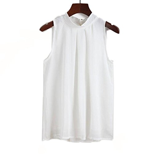 CUCUHAM Bright Tank Clothes Nice Outerwear Loose Khaki Styles Blouse Cute Short Sleeve Blouses Womens Gray Tops top Styles high Neck for Ladies(White , US:6/CN:M)