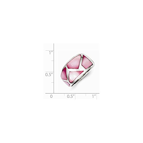 Pink Mother Of Pearl Ring (Sterling Silver Pink Mother of Pearl Ring)