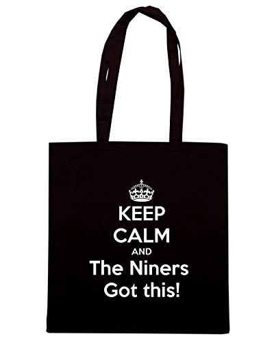 THE NINERS CALM THIS Nera Shopper AND GOT Speed TKC1154 KEEP Shirt Borsa xwq6q8BzC