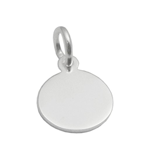 Stamping Blanks 925 Sterling Silver Round Disc Charms For Personalized Jewelry Making (13x8x0.8mm)