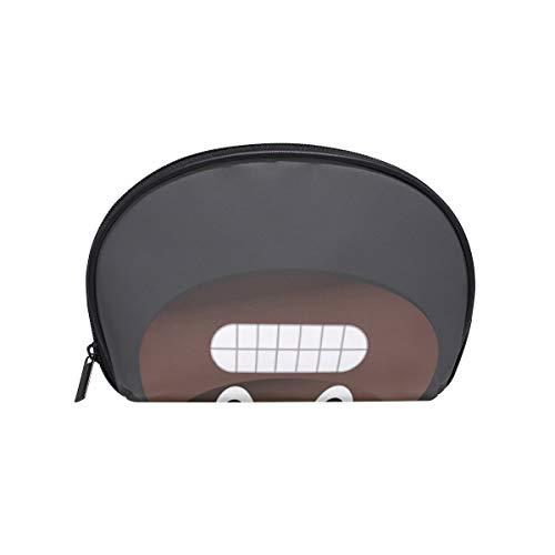 Makeup Cosmetic Bag Scary Poop Emoji Face with Zipper ()