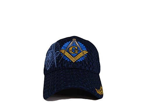 Mason Masons Freemason Masonic Lodge Dark Blue Shadow Mesh Texture Ball Cap Hat
