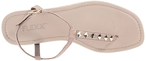 Tris Flat Women's Gold Flexx Shot Bling Sandal The x1S4qfn