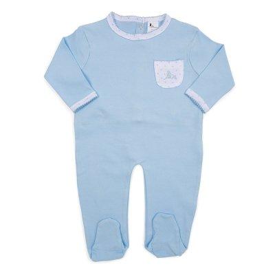 Pijama Estrellitas de bebé de BebeDeParis en Azul - pelele para dormir-Talla 3-6 meses- 100% algodón: Amazon.es: Ropa y accesorios