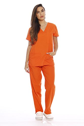 22250V-XS Orange Just Love Women's Scrub Sets / Medical Scrubs / Nursing Scrubs,Orange,X-Small -