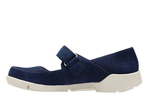 Clarks Tri Amanda - Zapatos de cordones de Piel para mujer azul azul