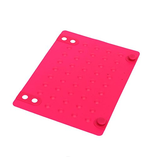 Ownsig Perfect Silicone Heat Resistant Proof Mat for Hair Straightener/Curling Iron Rose Red