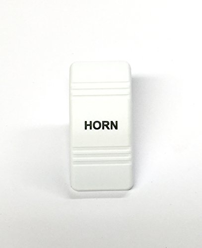 - Euro Rocker Switch Cover, White with Blue Lens. Contura III. Fits Carling, Cole Hersee, Blue seas (HORN (No Lens))