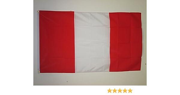 AZ FLAG Bandera de PERÚ SIN Armas 150x90cm - Bandera PERUANA Civil SIN Escudo 90 x 150 cm: Amazon.es: Jardín