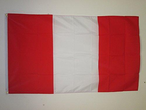 AZ FLAG Peru Without arms Flag 3' x 5' - Peruan Civil Flags 90 x 150 cm - Banner 3x5 ft