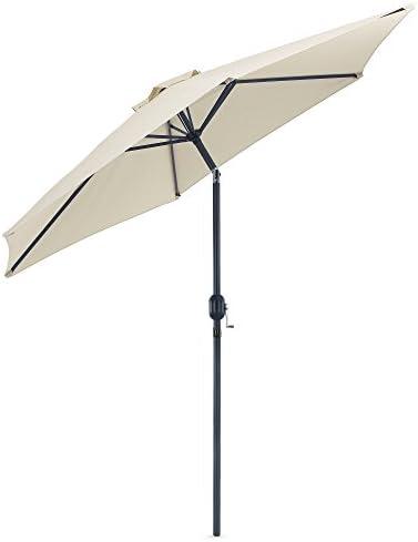 VonHaus 8.8 Feet 2.7meter Steel Powder Coated Ivory Garden Patio Parasol Umbrella