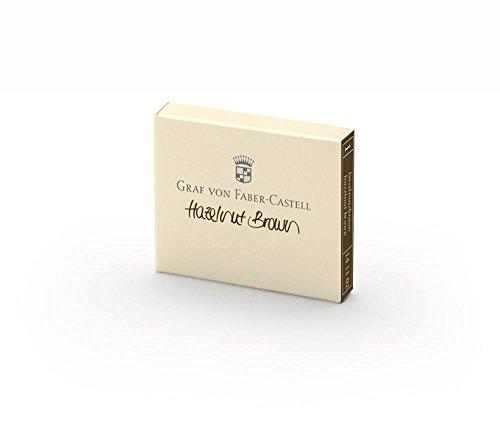- Graf von Faber-Castell Ink Cartridges, Box of 6, Hazlenut Brown (FC141102)