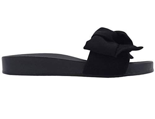 vestir Sintético Negro para Material de Muxun Sandalias Max de mujer RnxWA4twq