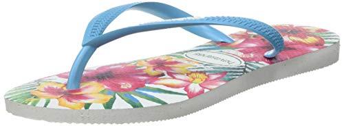 white Hibisco Mujer Slim Chanclas Para Multicolor Havaianas ZpqOxYCw7