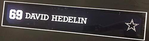 (David Hedelin Game Used Locker Room Name Nameplate 36