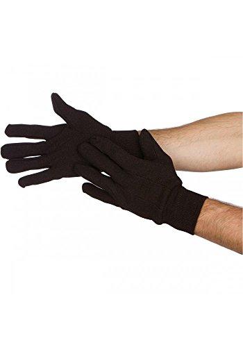 Task Gloves (1 Dz) Dark Brown Jersey Work Gloves - 7oz Economy Style - Standard Size