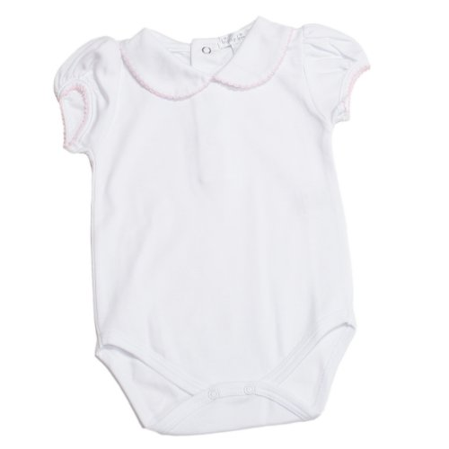 Kissy Kissy - Basic SS Bodysuit Collar - White Pink