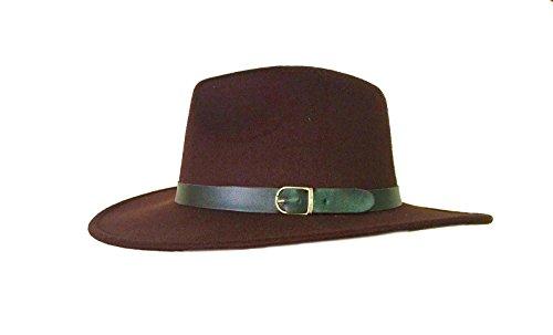 27042 Trilby Wool Felt Import Fedora Aussie Hat Size 58-59cm 7 3/8 ()