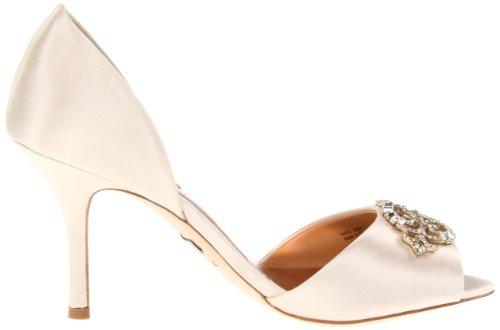 Badgley Mischka Salsa Damen Beige Textile Kleid Sandalen Schuhe Neu EU 37
