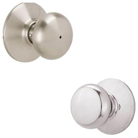 Schlage F40-PLY Plymouth Privacy Lock Door Knob Set, Satin Nickel x ...