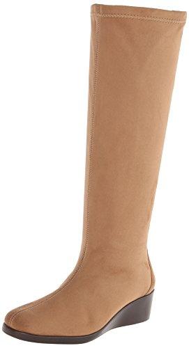 A2 by Aerosoles Tempirical Tall Boots-Taupe Fabric 10 M, Tau