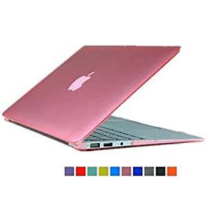 JOE Solid Color Crystal Folio Protect Case for 13.3 Macbook Retina (Assorted Colors) , Red